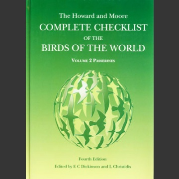 Howard & Moore Complete Checklist of the Birds of the World, 4. painos 2. osa