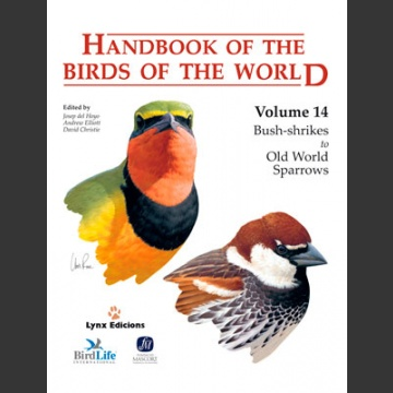 Handbook of the Birds of the world vol 14 (Hoyo ym. 2009)