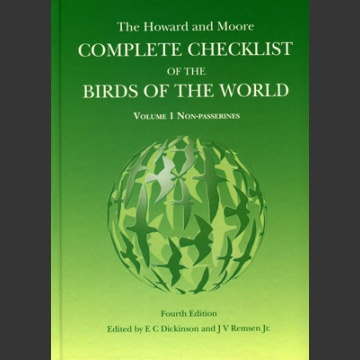 Howard & Moore Complete Checklist of the Birds of the World, 4. painos 1. osa
